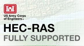 Volle Unterstützung des HEC-RAS-Modells: Berechnen Sie stationäre und instationäre HEC-RAS Strömungsergebnisse direkt in der Software.