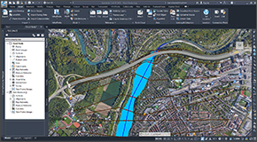 Integrate HEC-RAS directly with AutoCAD drawing files, Bentley MicroStation drawing files and ESRI ArcGIS map data. Export completed HEC-RAS models and results to AutoCAD (including AutoCAD Civil 3D and Map 3D), MicroStation and ESRI ArcGIS.