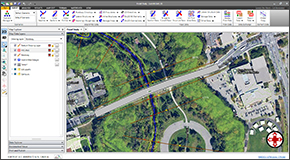 Blend Google or Bing online maps and high-resolution aerial imagery files directly into the HEC-RAS model. Quickly and easily georeference existing HEC-RAS models to background maps, AutoCAD and MicroStation drawings, or ArcGIS map data.